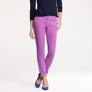 J.Crew Vintage Matchstick Purple Corduroy City Fit
